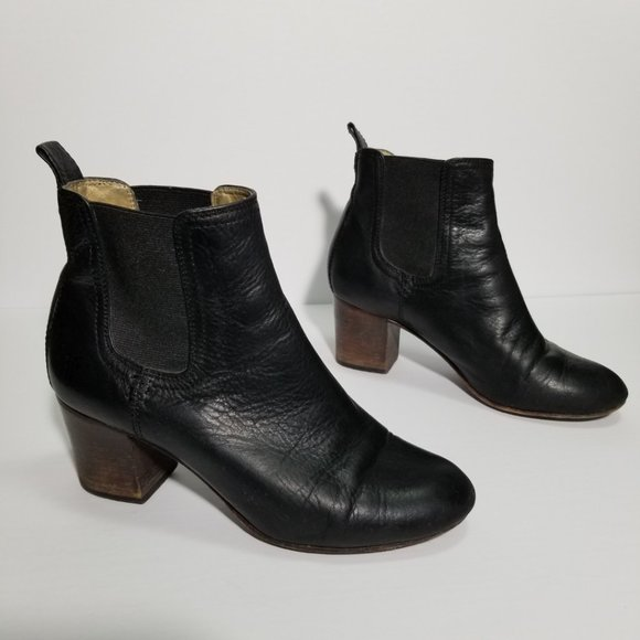 FRYE Black Leather Stella Chelsea Boots